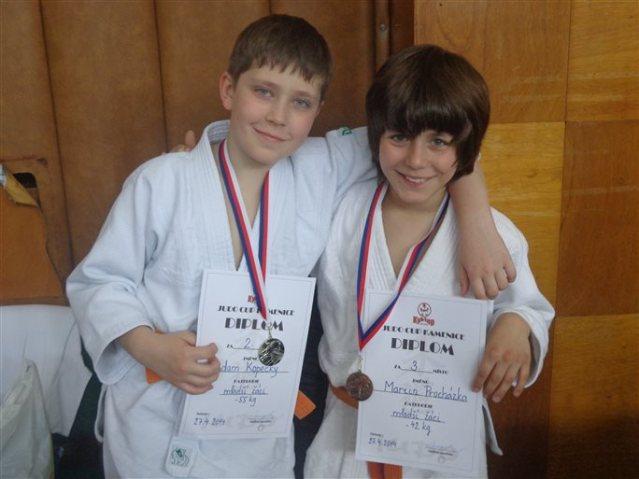 Judisté přivezli dvakrát stříbro a jednou bronz. Na snímku Adam a Martin. Foto Miloš Kopecký