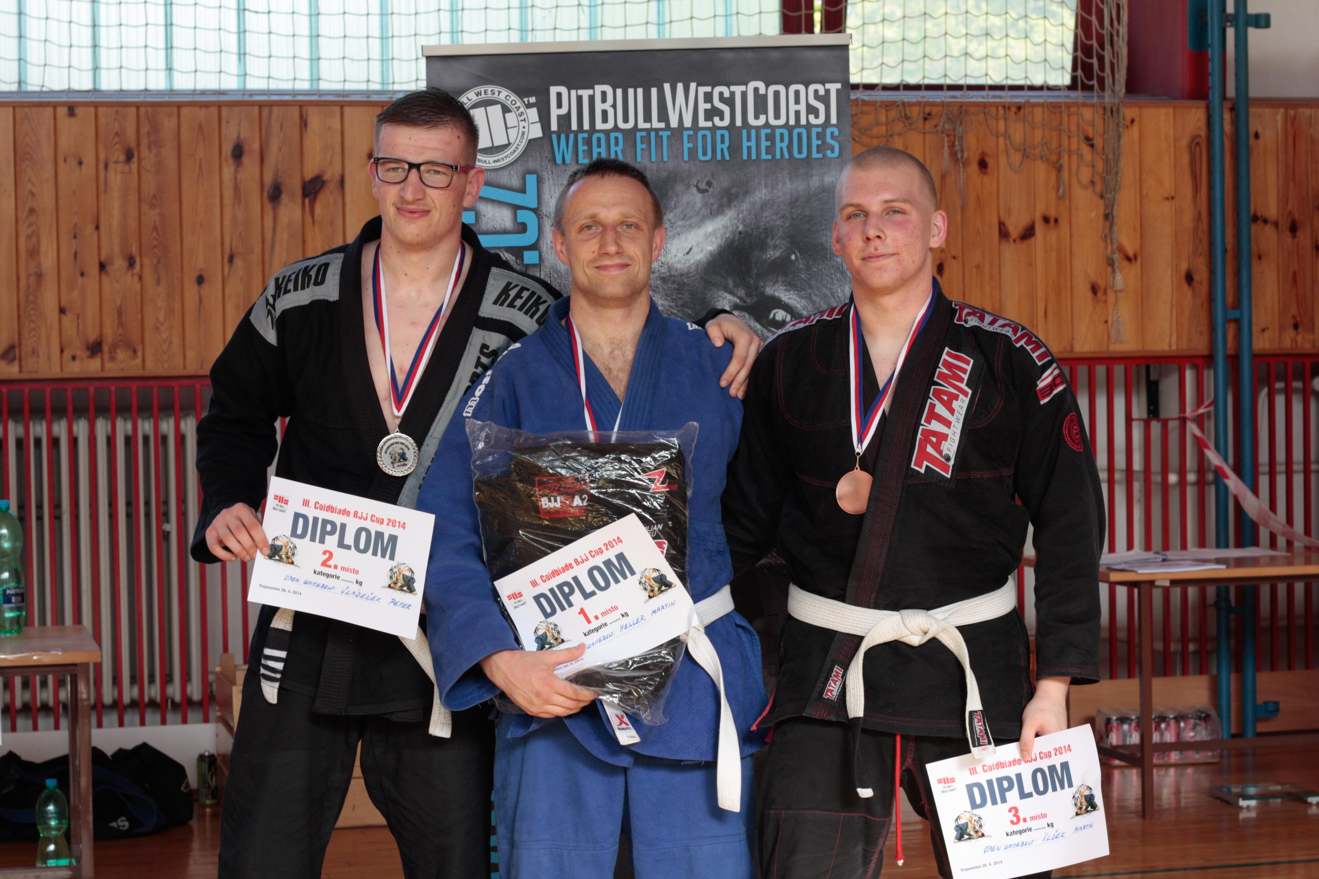 Martin Heller vybojoval na turnaji v Trojanovicích i kategorii open white belt