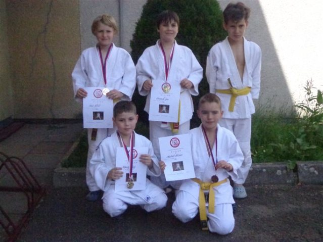 Z leva: Lukáš Král, Matěj Kopecký, Jan Turchich, Václav Mistoler, Jakub Krutský. Foto Miloš Kopecký
